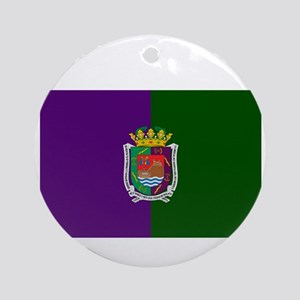 Malaga City (Dark) Front and Back. Round Ornament