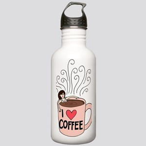 I love coffee Stainless Water Bottle 1.0L