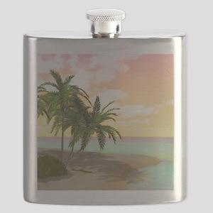 Dreamy Desert Island Flask