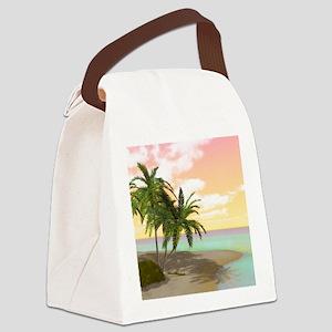 Dreamy Desert Island Canvas Lunch Bag