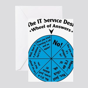 IT Wheel of Answers Greeting Cards