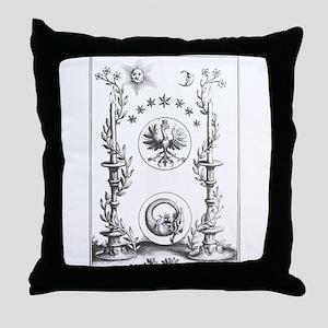 Alchemy Hermetecism print from the 1700s Throw Pil