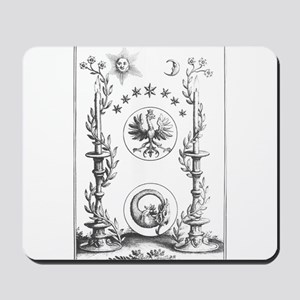 Alchemy Hermetecism print from the 1700s Mousepad
