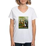 Spirit of '76 & Bernese Women's V-Neck T-Shirt