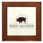 Bison Records Framed Tile
