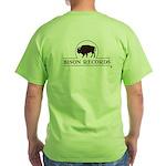 Bison Records Logo Green T-Shirt