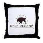 Bison Records Logo Throw Pillow