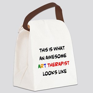 awesome art therapist Canvas Lunch Bag
