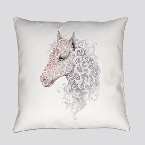 Horse Head Tattoo Everyday Pillow