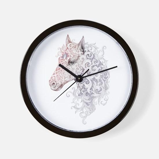 Horse Head Tattoo Wall Clock