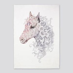Horse Head Tattoo 5'x7'Area Rug