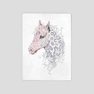 Horse Head Tattoo 5'x7'Area Rug