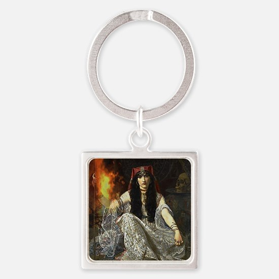 The Sorceress Square Keychain