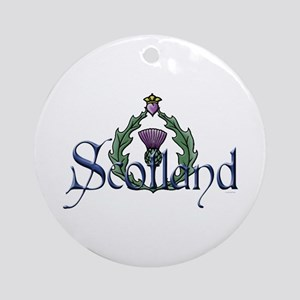 Scotland Thissle Ornament (Round)