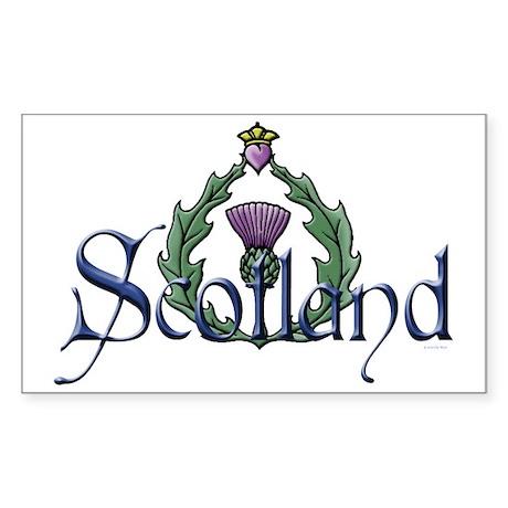 Scotland Thissle Sticker (Rectangle)