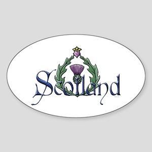 Scotland Thissle Sticker (Oval)
