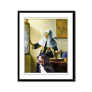 The Pitcher & Bernese Framed Panel Print