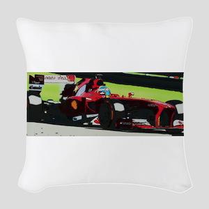 Ferrari F1 Woven Throw Pillow