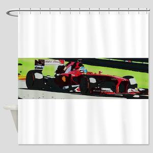 Ferrari F1 Shower Curtain