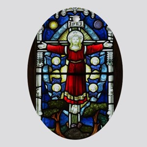 Christ Oval Ornament