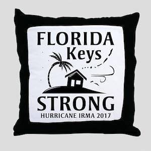 Florida Keys Strong Throw Pillow