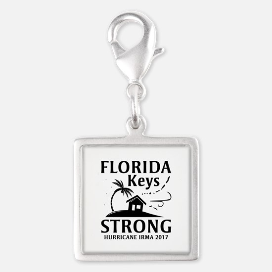 Florida Keys Strong Silver Square Charm