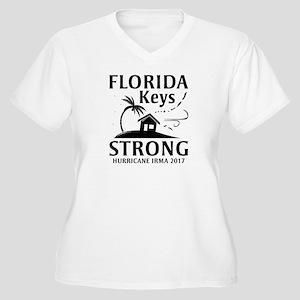 Florida Keys Strong Women's Plus Size V-Neck T-Shi