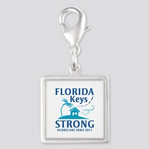 Florida Keys Strong Silver Square Charm