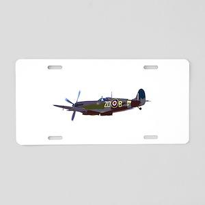 Supermarine Spitfire Aluminum License Plate