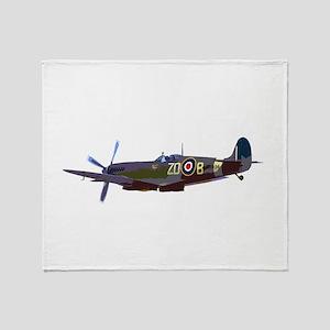 Supermarine Spitfire Throw Blanket