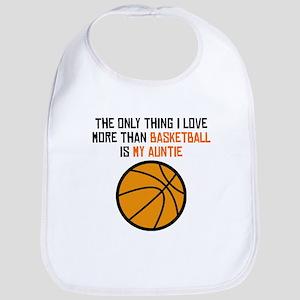 Basketball Auntie Bib