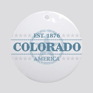 Colorado Round Ornament