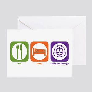 Eat Sleep Radiation Therapy Greeting Cards (Packag