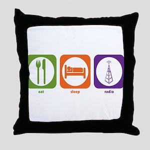 Eat Sleep Radio Throw Pillow