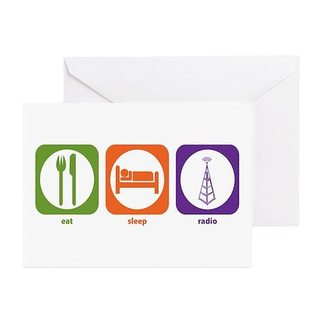 Eat Sleep Radio Greeting Cards (Pk of 10)