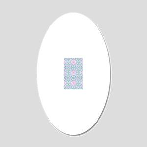 Soft Rainbow Star 20x12 Oval Wall Decal
