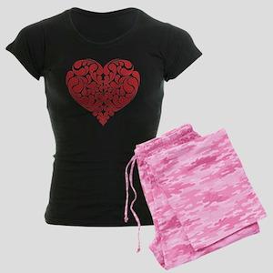 Real Heart Women's Dark Pajamas