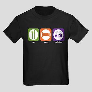Eat Sleep Real Estate Kids Dark T-Shirt