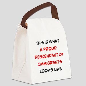 proud descendant of immigrants Canvas Lunch Bag