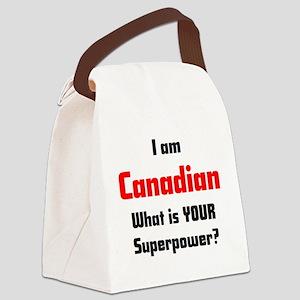 i am canadian Canvas Lunch Bag