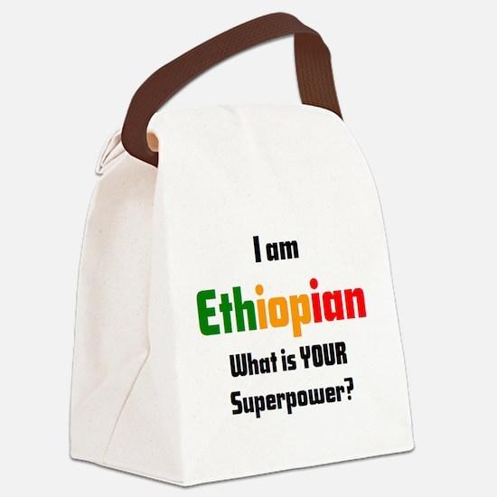 Cute Ethiopian Canvas Lunch Bag