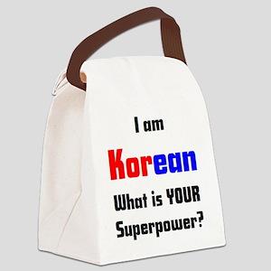 i am korean Canvas Lunch Bag