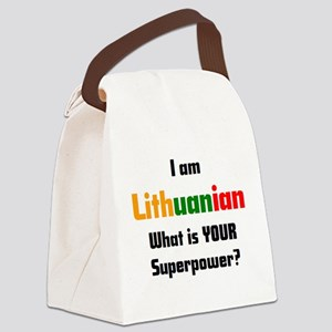 i am lithuanian Canvas Lunch Bag