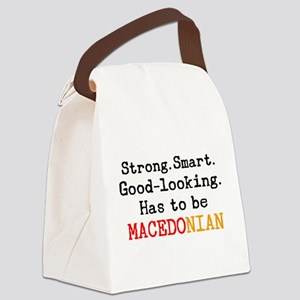 be macedonian Canvas Lunch Bag