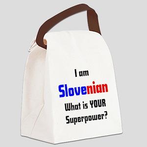 i am slovenian Canvas Lunch Bag