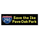 Pave Oak Park bumper sticker