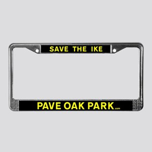 Pave Oak Park license plate frame