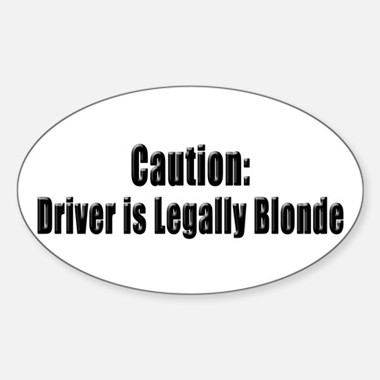 Blonde Oval Decal