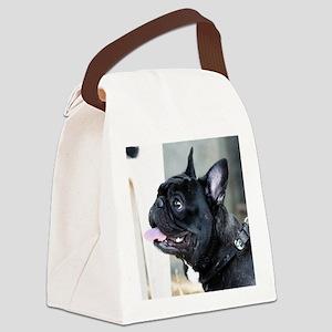Black French Bulldog  Canvas Lunch Bag