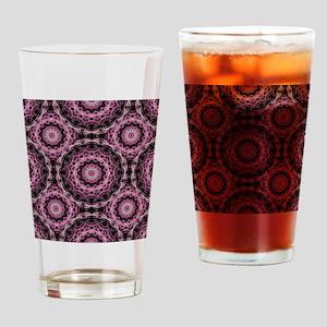 Pink Royal Pattern Drinking Glass